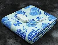 Электропростынь двухспальная Lux Electric Blanket Blue Flowers 155x140 см