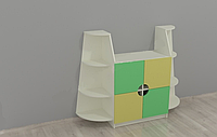 Стенка Тумба для аквариума для детских садов с полками и шкафчиками для дидактических материалов 156х40х121 см