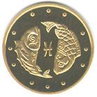Риби монета 2 гривні золото