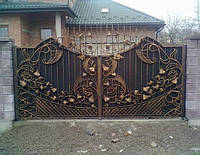 Кованые ворота под заказ в Полтаве