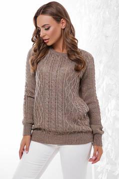Стильный женский свитер кофе 44-50