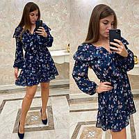 Воздушное  платье в цветочной расцветке CDM-2700, фото 1