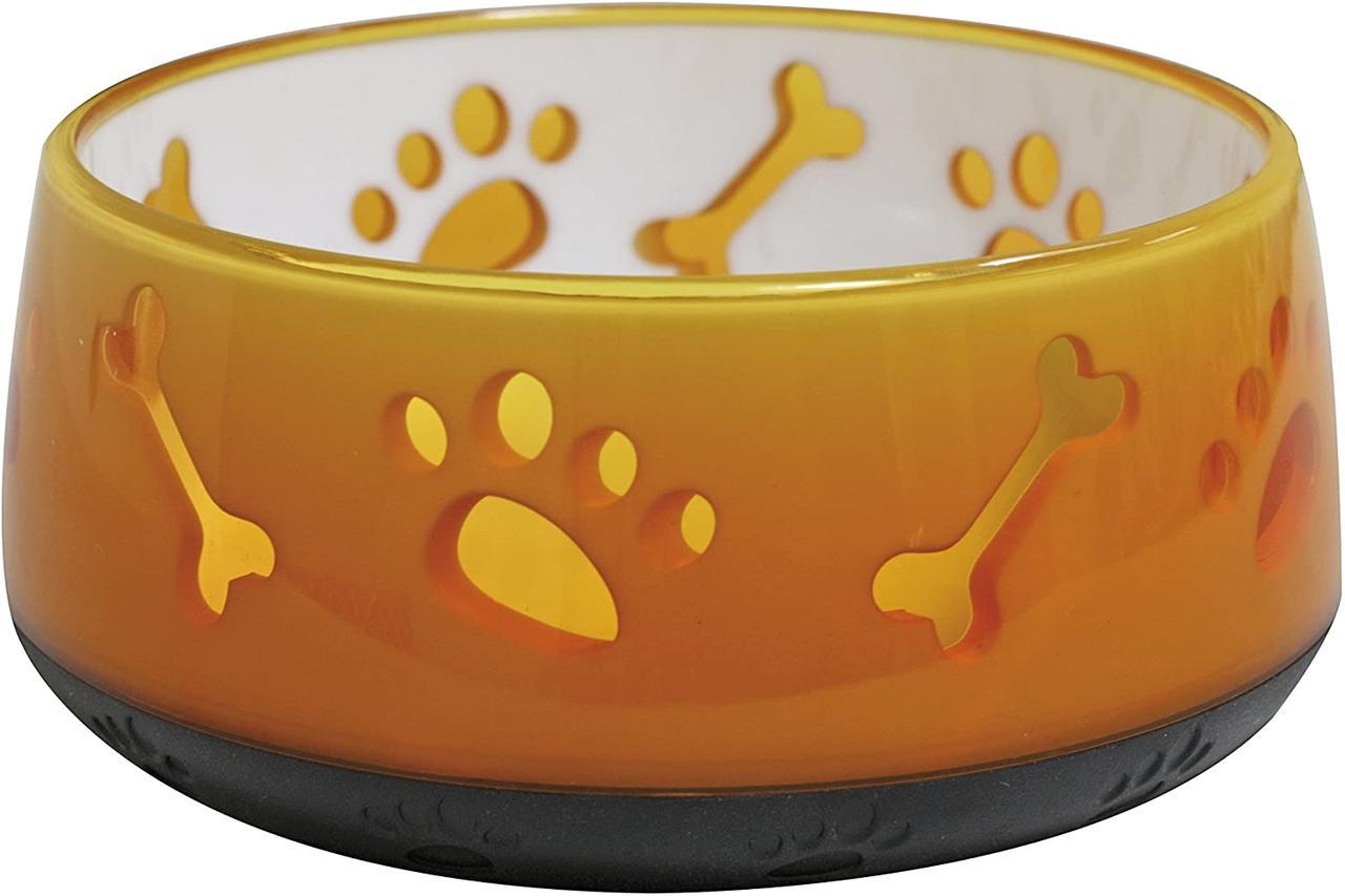 Миска для собак 0,3 л CROCI Doggy. Пластик 10 см (оранжевая)