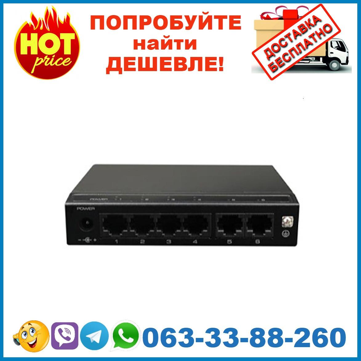 SF6P-HM  4-портовый PoE коммутатор UTEPO