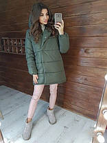 Зимова жіноча куртка зефирка хіт сезону, фото 2