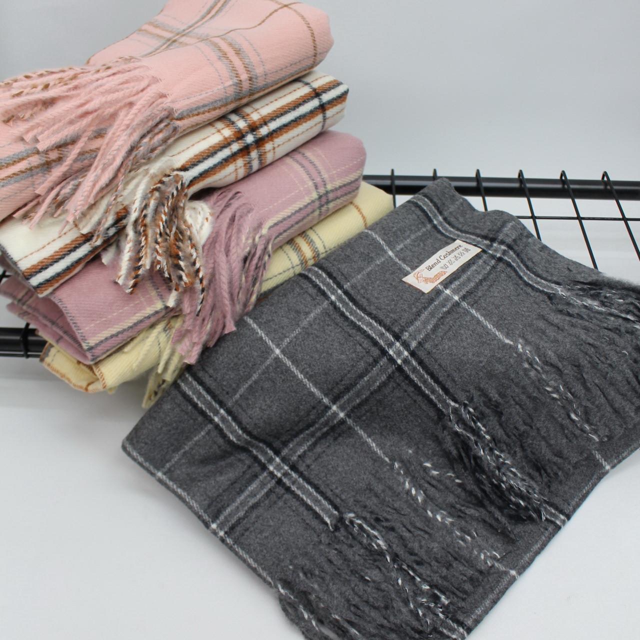 Кашемировый теплый шарф палантин  Cashmere 139002