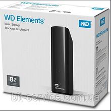 "Жорсткий диск Western Digital Elements Desktop 8TB WDBWLG0080HBK-EESN 3.5"" USB 3.0 External Black"