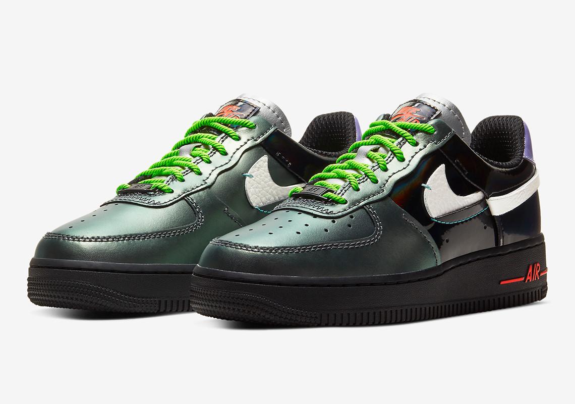 Кроссовки реплика Nike Air Force 1 Vandalized Iridescent 38 Green Black (hub_it73hu)