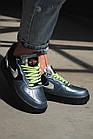 Кроссовки реплика Nike Air Force 1 Vandalized Iridescent 38 Green Black (hub_it73hu), фото 3