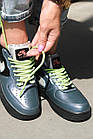 Кроссовки реплика Nike Air Force 1 Vandalized Iridescent 38 Green Black (hub_it73hu), фото 6