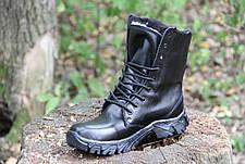 Ботинки берцы зимние из натуральной кожи и меха черная кожа Энерджи 36-39рр, фото 2