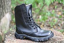 Ботинки берцы зимние из натуральной кожи и меха черная кожа Энерджи 36-39рр, фото 3