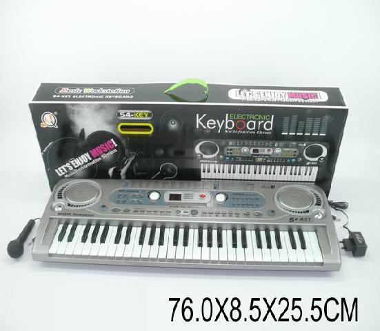 Орган пианино 020FM синтезатор от сети, 54 клавиша, с микрофоном, фм радио. pro