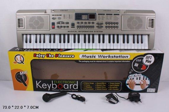 Орган пианино 816 USB раб. от сети 220V, синтезатор, 61 клавиша. pro