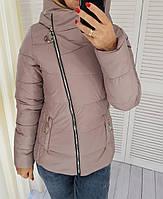Демисезонная куртка, арт. 501, цвет темно лиловый кофе и молоко, фото 1