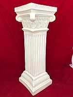 Декоративная колонна подставка интерьерная Греческая, слоновая кость, 55 см