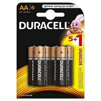 Батарейка Duracell AA MN1500 LR06 * 6 (5+1) (81485015)
