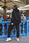 Женский спортивный костюм батал, турецкая трехнить пенье на флисе, р-р 48-50; 52-54 (чёрный), фото 3