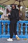 Женский спортивный костюм батал, турецкая трехнить пенье на флисе, р-р 48-50; 52-54 (чёрный), фото 5