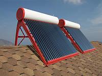 Солнечное тепло для нагрева воды — вакуумные солнечные коллекторы.