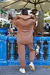 Женский спортивный костюм батал, турецкая трехнить пенье на флисе, р-р 48-50; 52-54 (кэмел), фото 5