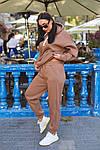 Женский спортивный костюм батал, турецкая трехнить пенье на флисе, р-р 48-50; 52-54 (кэмел), фото 2