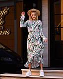 Женское легкое платье с рюшами (универсал 40-46) супер-софт Гучи, талия на резинке, фото 2