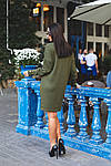 Женское платье батал, тёплая ангора Арктика, р-р 48-50; 52-54 (хаки), фото 4