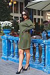 Женское платье батал, тёплая ангора Арктика, р-р 48-50; 52-54 (хаки), фото 5