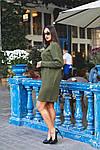 Женское платье батал, тёплая ангора Арктика, р-р 48-50; 52-54 (хаки), фото 6