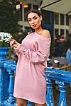 Женское платье батал, тёплая ангора Арктика, р-р 48-50; 52-54 (пудровый), фото 2