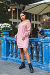 Женское платье батал, тёплая ангора Арктика, р-р 48-50; 52-54 (пудровый), фото 4