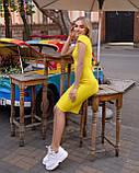Классическое трикотажное платье миди с коротким рукавом (48-52рр), фото 2