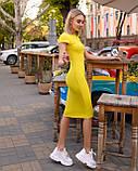 Классическое трикотажное платье миди с коротким рукавом (48-52рр), фото 3