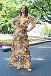 Летнее платье в пол (42-46) с коротким рукавом, фото 2