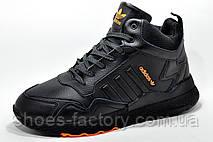 Зимние кроссовки на меху Adidas Originals Nite Jogger Boost 3М Black, фото 3
