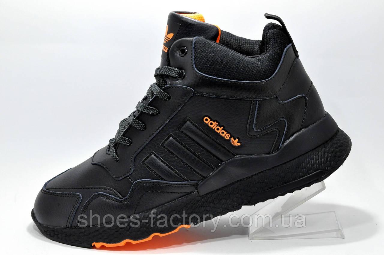 Зимние кроссовки на меху Adidas Originals Nite Jogger Boost 3М Black