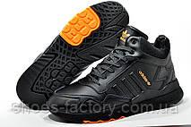 Зимние кроссовки на меху Adidas Originals Nite Jogger Boost 3М Black, фото 2