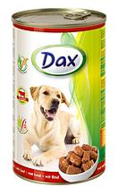 Консервы для собак Dax Beef Дакс Говядина 1,24 кг