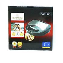 Сэндвичница 3 в 1 со съемными пластинами Crownberg CB-1071 (Бутербродница, вафельница, гриль), фото 2