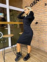 Женское теплое платье на флисе, карман - кенгуру (40-46) (капюшон без шнурка)