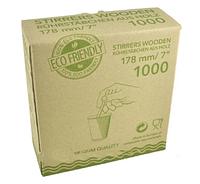 Мешалка деревянная 178 мм деревянная 1000 шт.