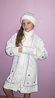 Детский карнавальный костюм Снегурочки белый