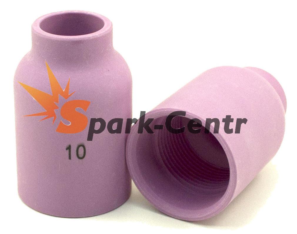 Сопло газовое №10 стандартное для увеличенной газовой линзы 48 мм, Ø16 мм серия 53N для горелки WP-18