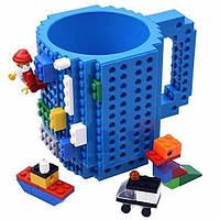Кружка LEGO + набор кубиков (цвет синий)