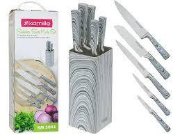 Набор кухонных ножей 6 пр на подставке Kamille KM-5041