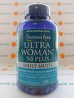 Витамины женские Оригинал США! Puritan s Pride Ultra Woman 50 Plus Daily Multi 120 таб.