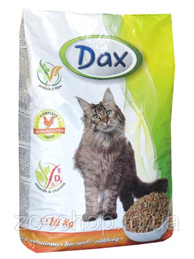 Сухий корм для кішок Dax Poultry Дакс Птах з овочами 10 кг
