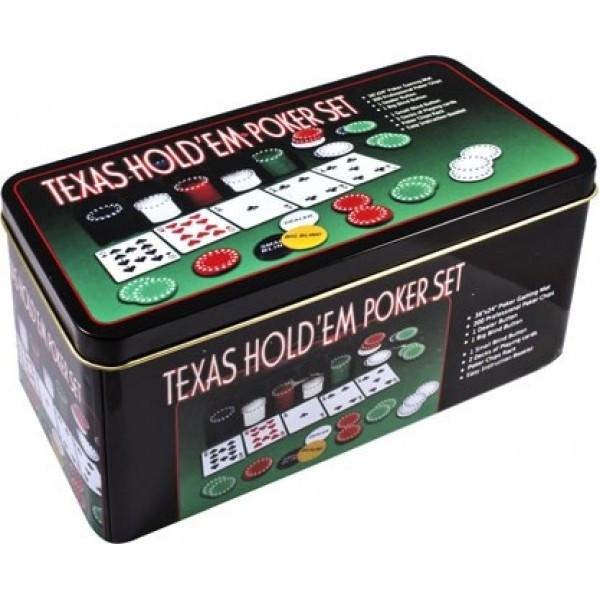 Настольная игра Покер , фишки, карти 2 колоды, полотно