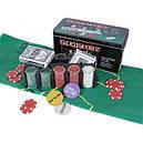 Настольная игра Покер , фишки, карти 2 колоды, полотно, фото 4